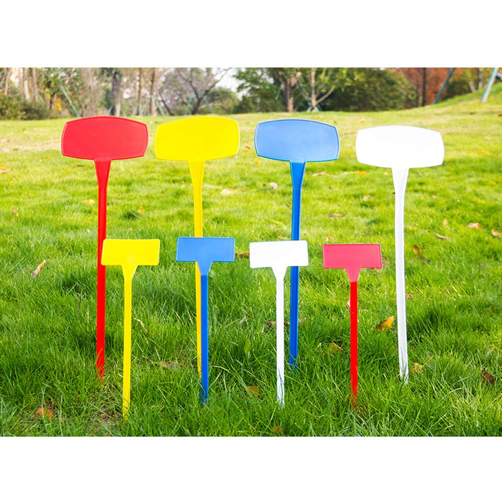 Yardwe 10pcs Waterproof Plant Labels Nursery Garden Tags Markers Garden Insert Tag Re-usable Plant Labels Size S White