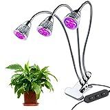 LED Pflanzenlampe, 15W Wachstumslampe Pflanzenlicht Wachsen licht Pflanzenleuchte Vollspektrum mit 360 Grad einstellbar Flexible für Büro Haus Garten Aquatische Pflanzen Blumen Veg Sämli