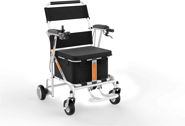 Airwheel H8 | Silla de Ruedas Eléctrica para interior y exterior con cesta de almacenamiento
