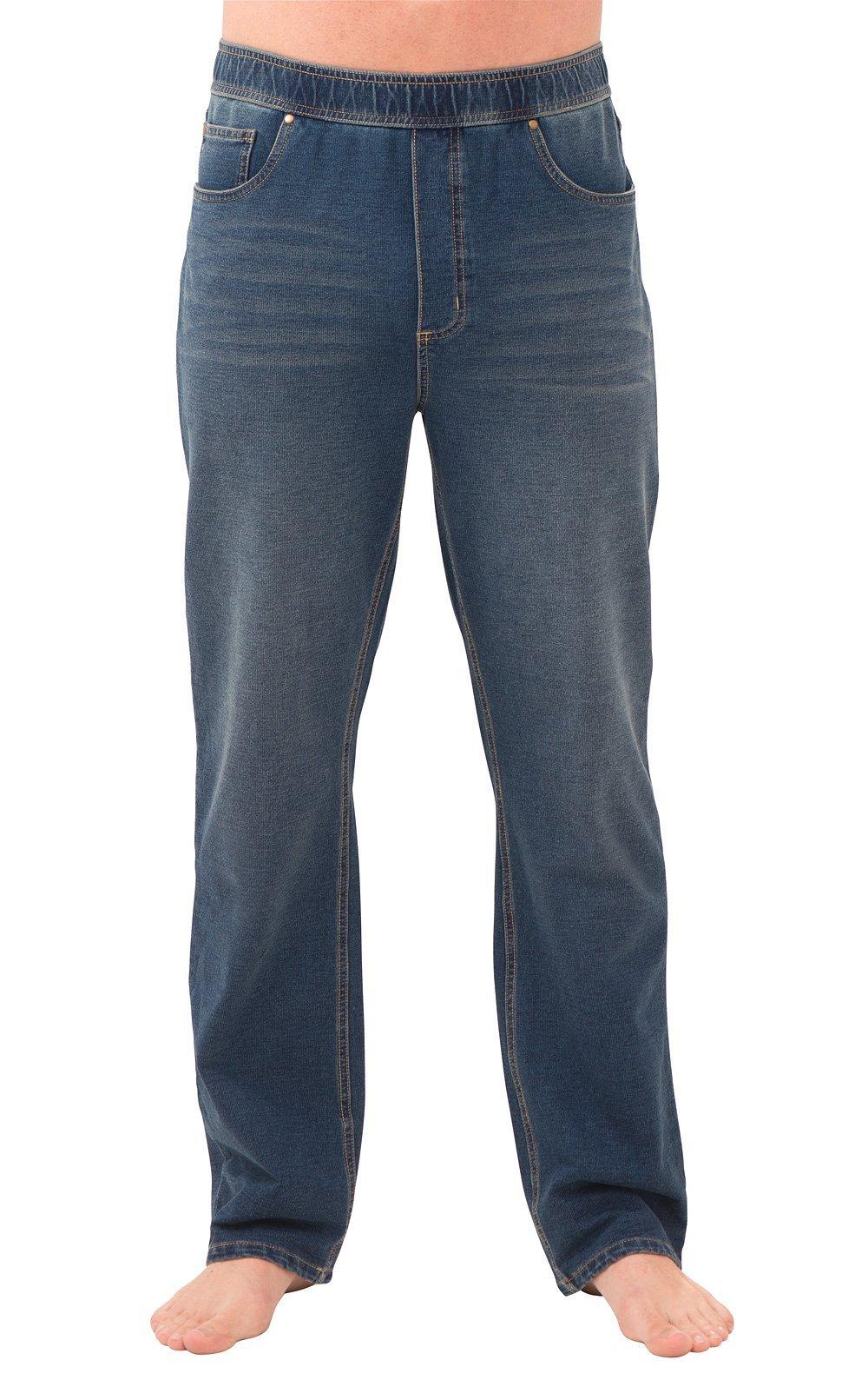 692c00689137e PajamaJeans Men's Straight Leg Knit Denim Jeans - Denim Fit