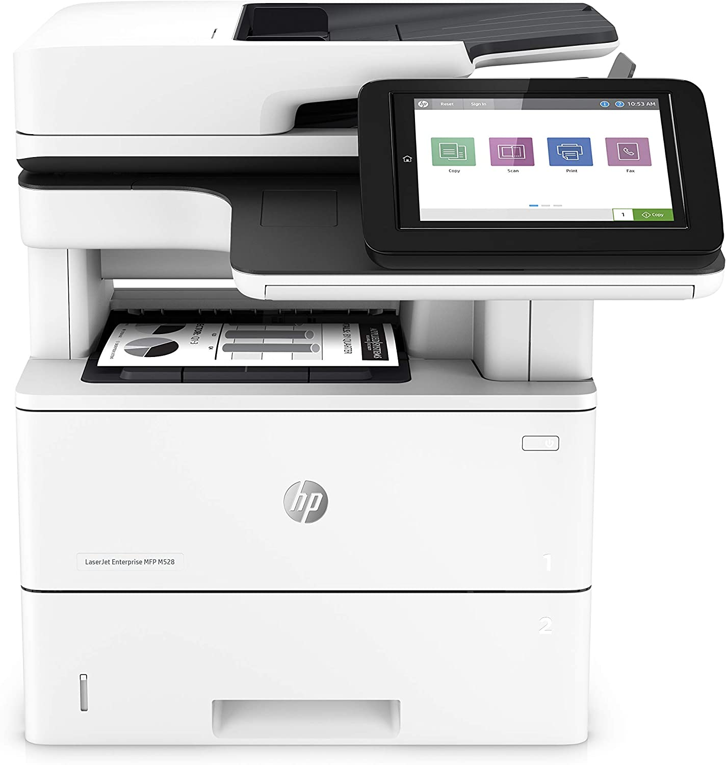 HP LaserJet Enterprise Multifunction Printer M528dn (1PV64A), White
