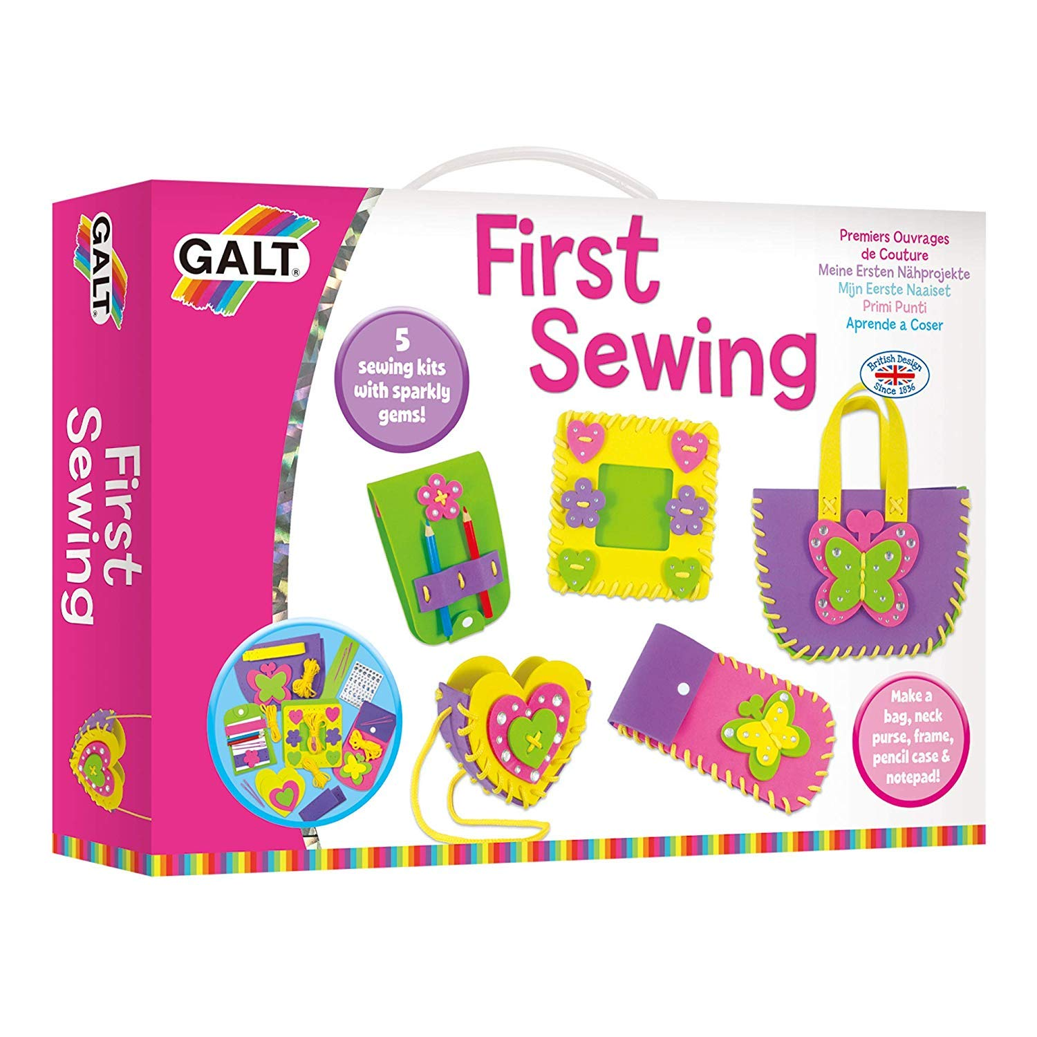 B0002X7XW8 Galt Toys, First Sewing Kit for Kids, Learn to Sew DIY Craft Kit, Ages 5+ 71TpuRmtdnL
