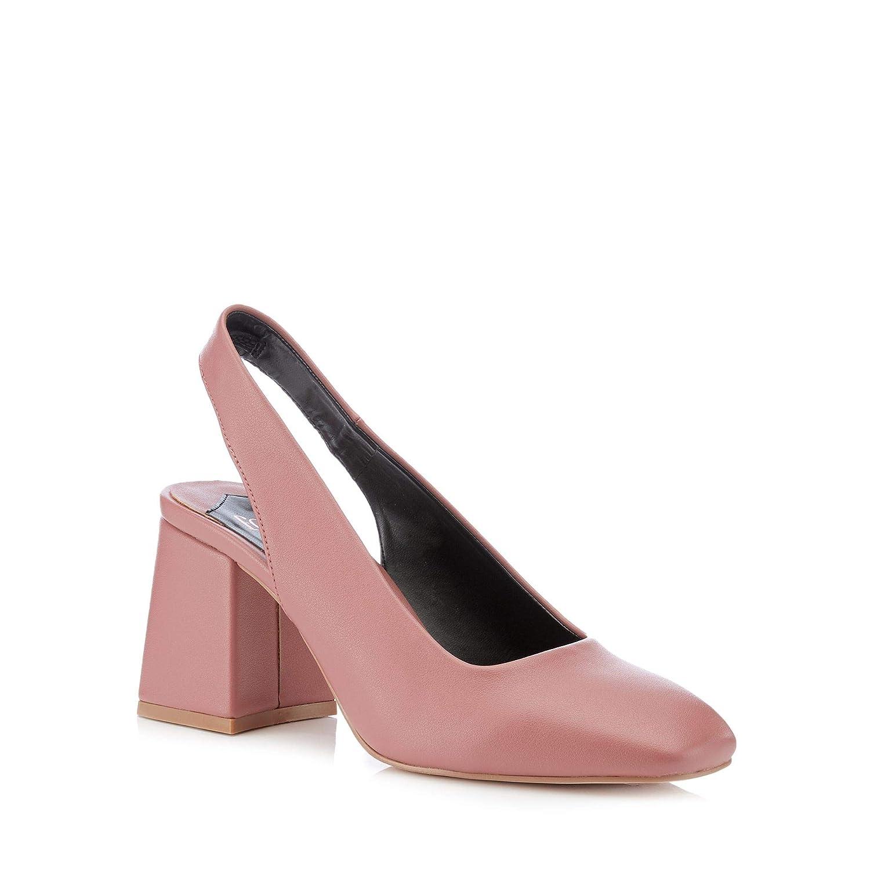 3b9b8a3e231 Debenhams Faith Womens Pink 'Clock' Mid Block Heel Slingbacks ...