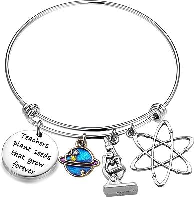 MAOFAED Teacher Retirement Gift Graduation Gift Best Teacher Ever Teacher Appreciation Gift Teacher Bracelet
