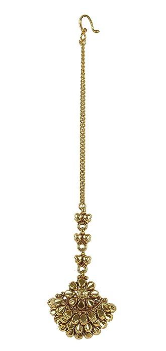 MUCHMORE Glamorous Indian Gold Tone Polki Indian Maang Tikka Partywear Jewellery QvpgivN