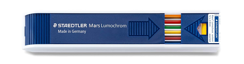 Mars Lumochrom 204 Etui 12 Mines De Dessin 2Mm Assorties