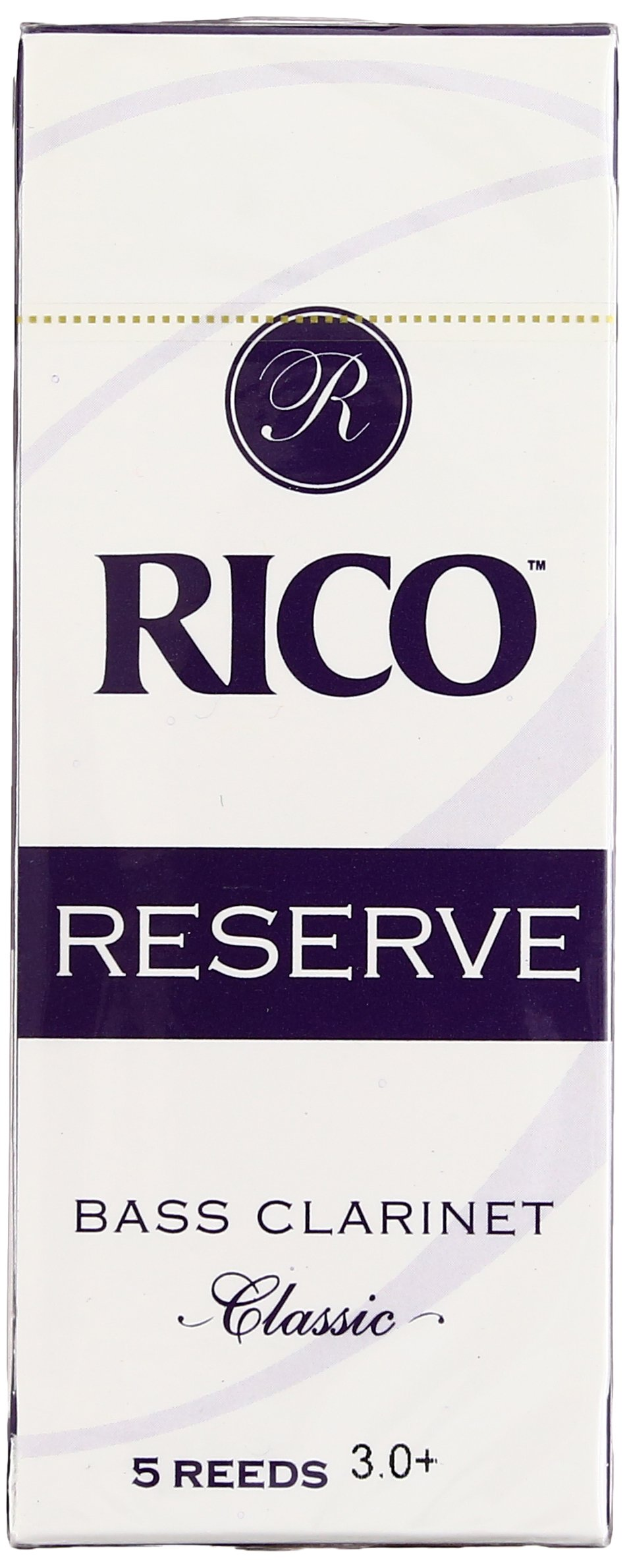 Rico Reserve Classic Bass Clarinet Reeds, Strength 3.0+, 5-pack