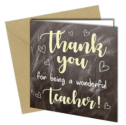 1113 Tarjeta de agradecimiento para profesora Mr Mrs Miss ...