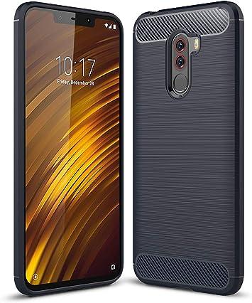MIFanX Funda Xiaomi Pocophone F1,Cubierta a Prueba De Golpes TPU Premium para Xiaomi Pocophone F1(Azul): Amazon.es: Electrónica