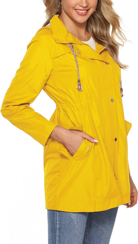 mit Kapuze Damen-Regenjacke tragbar lang/ärmlig Sport schnelltrocknend wasserdicht