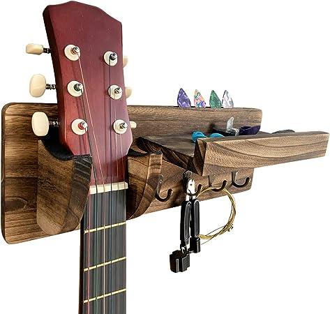 TTCR-II Accesorios Guitarra 61 Piezas con Afinador Guitarra,Correa Guitarra,Soporte pared Guitarra,Cejilla Guitarra,15 Puas Guitarra,3 juegos Cuerdas Guitarra,Puente Guitarra,Cejuela guitarra acustica