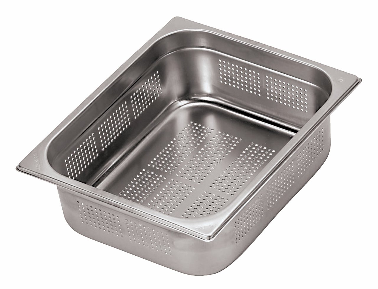 Paderno World Cuisine 12 1/2 inches by 10 1/2 inches Stainless-steel Perforated Hotel Pan - 1/2 (depth: 6 inches)