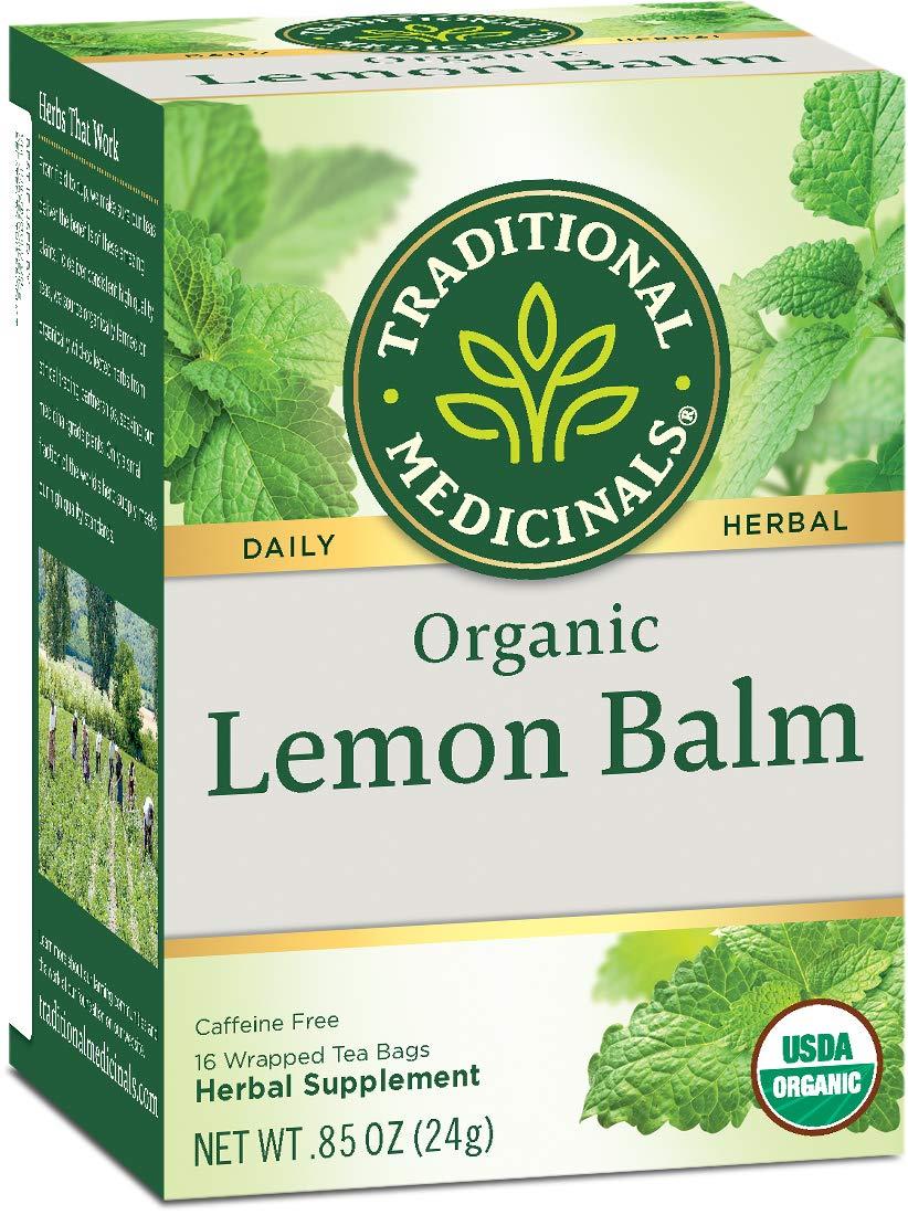 Traditional Medicinals Organic Lemon Balm Tea, 16 Tea Bags (Pack of1)