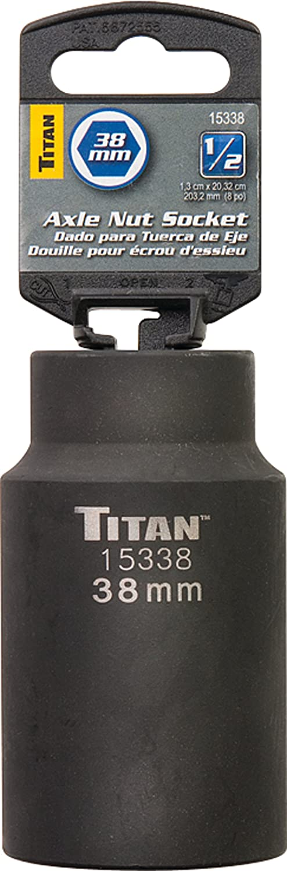 Titan 15333 33mm 1//2-Inch Drive 6-Point Axle Nut Socket