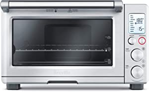 Breville BOV800XL Smart Oven 1800-Watt Convection Toaster Oven with Element IQ, Silver (Renewed)