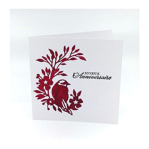 Carte Joyeux Anniversaire Femme Enfant Amie Maman Carte D Anniversaire Oiseau Carte Anniversaire Carte Double 13 5 X 13 5 Cm Avec Enveloppe Amazon Fr Handmade