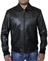 Happy Days Fonzie Black Biker Bomber Synthetic Leather Jacket