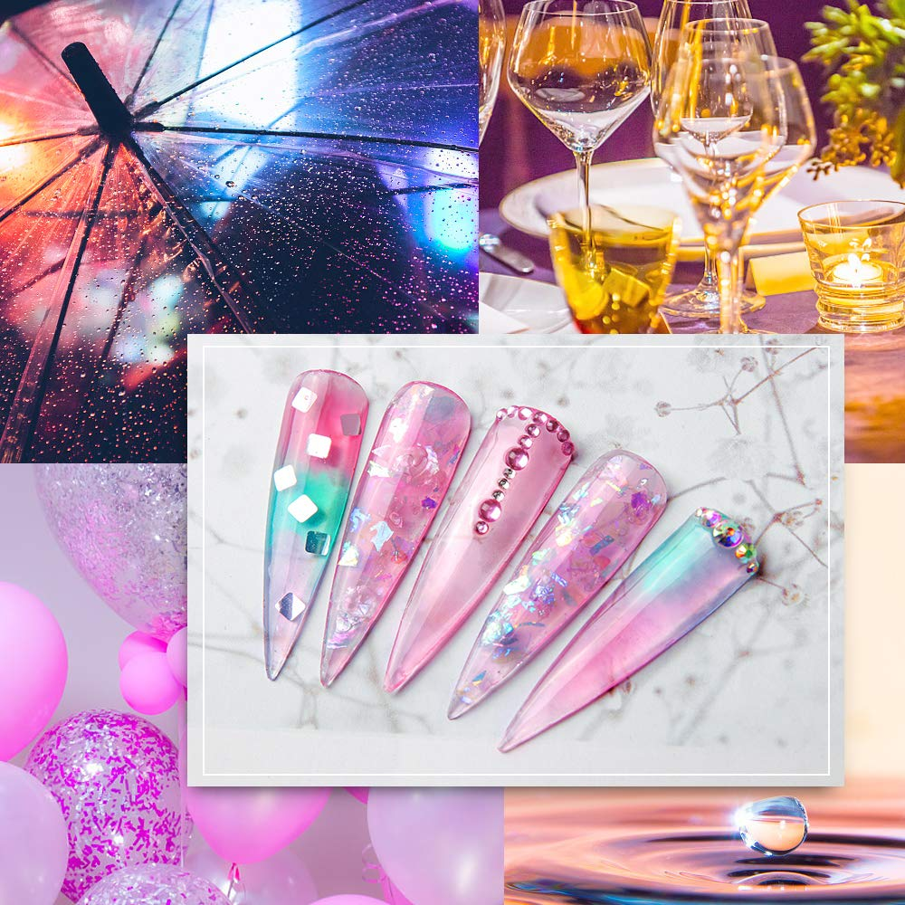 Makartt Jelly Translucent Poly Nail Extension Gel Kit 6 Pastel Poly Nail Colors 15ML Nail Extension