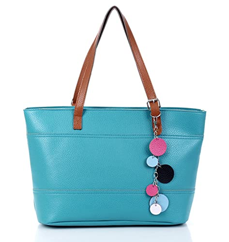 7f8e0986c911 SHENGXILU Women's/Lady's PU Leather Handbag Colour Bar Shoulder Bag