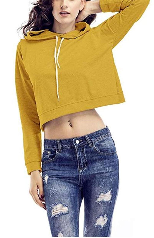 Teen Girls Cross Wrap Back Split Sweatshirt Crop Top