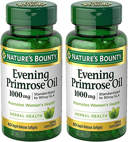 Evening Primose Oil 1000 mg, 2 Bottles 60 Count
