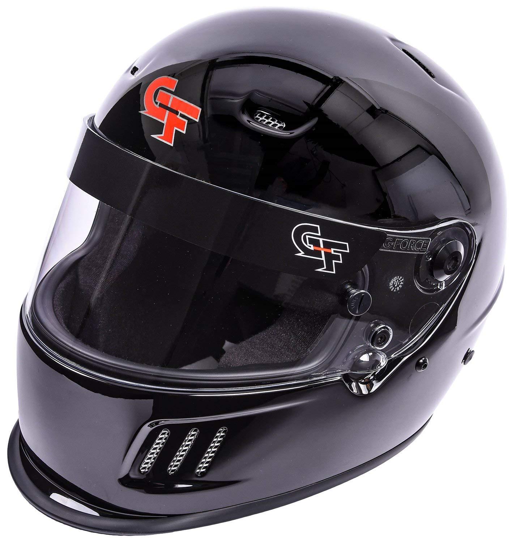 G-FORCE 3415LRGBK Rift Full Face Helmet SA2015 Certified Large Gloss Black