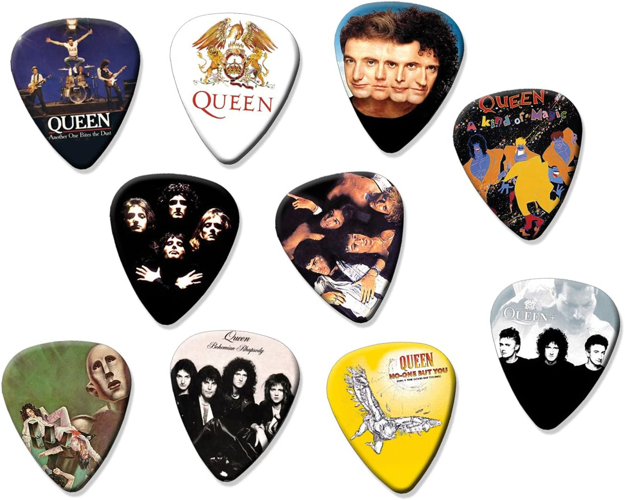 Queen (Tribute Edition) Edition) Set Of 10 Loose Guitarra Pick Púa ...