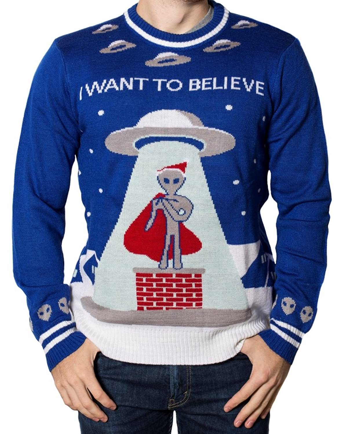 I Want To Believe Ugly Christmas Sweater
