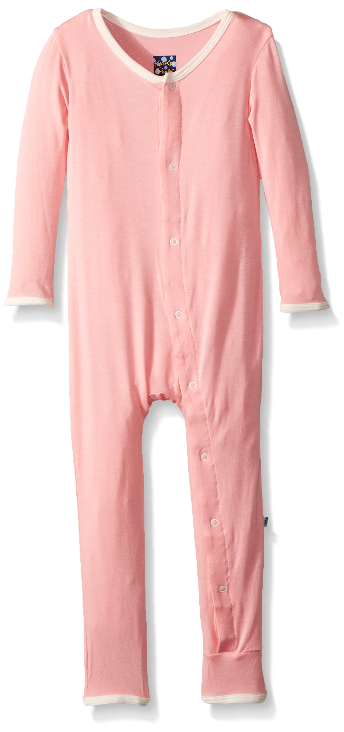 Kickee Pants Toddler Girls' Holiday Fitted Applique Coverall, Lotus I Love Mom, 4T