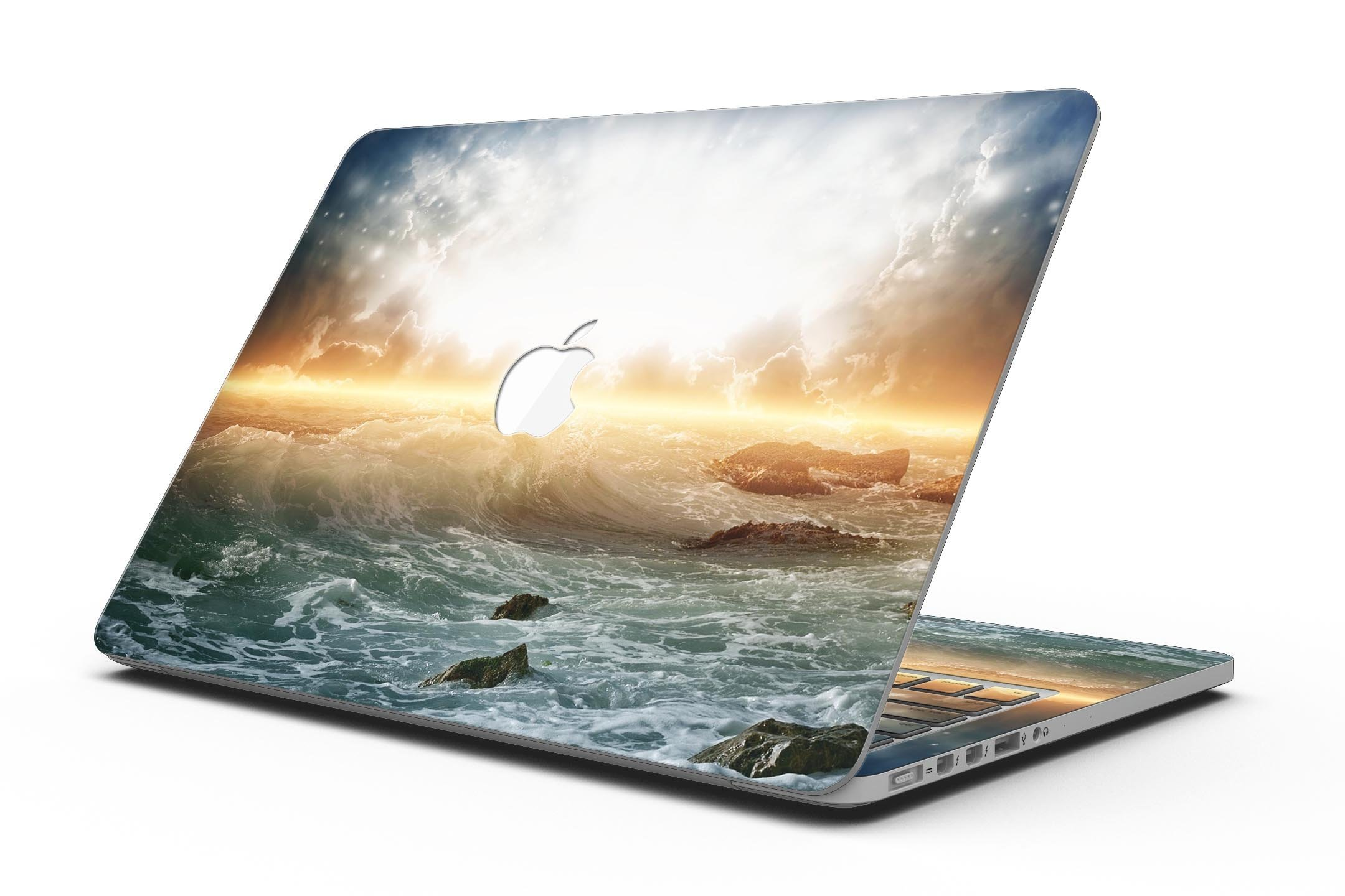 Majestic Sky on Crashing Waves - MacBook Pro with Retina Display Full-Coverage Skin Kit