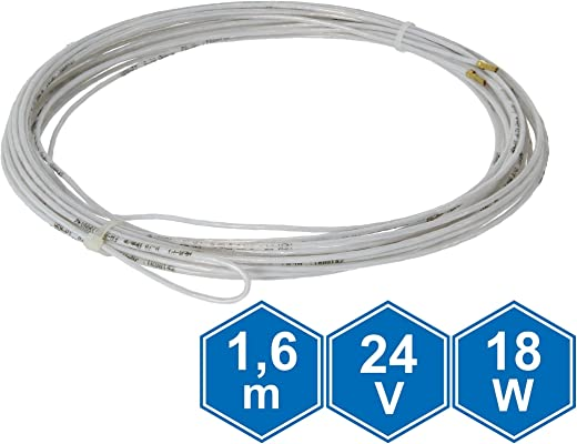 Lister Heizkabel 24 V, 1,6 m, 18 W
