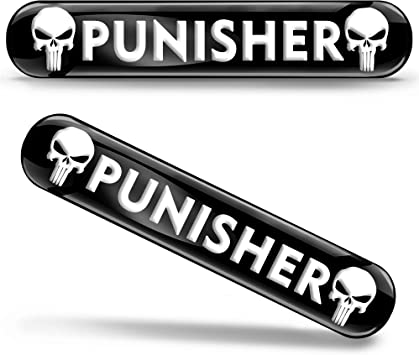 Skinoeu 2 X Punisher Aufkleber 3d Gel Silikon Autoaufkleber Totenkopf Totenschädel Skull Auto Moto Emblem Logo Tuning Zubehör Motorrad Ks 109 Auto