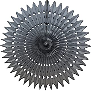product image for 3-Pack 21 Inch Large Tissue Paper Fan (Gray)