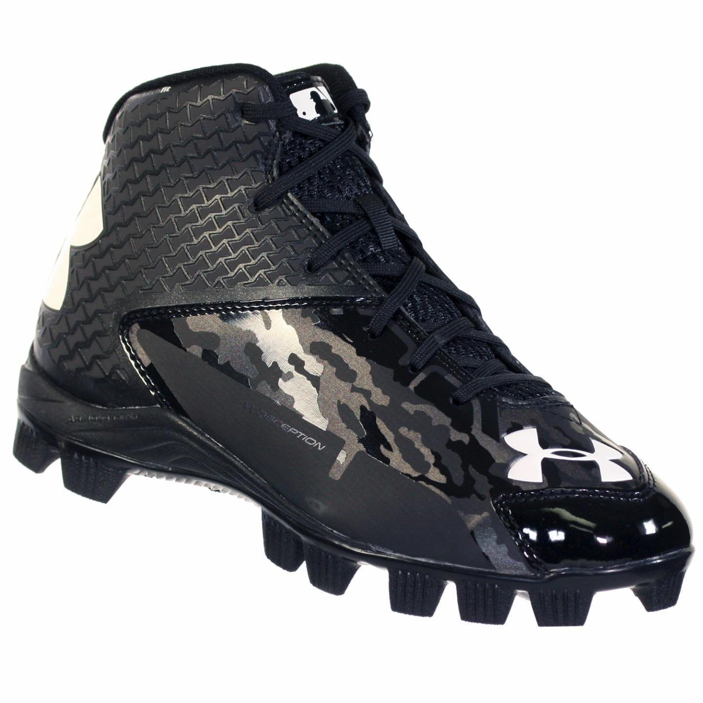 UNDER ARMOUR DECEPTION MID RM JR YOUTH BASEBALL CLEATS BLK / BLK