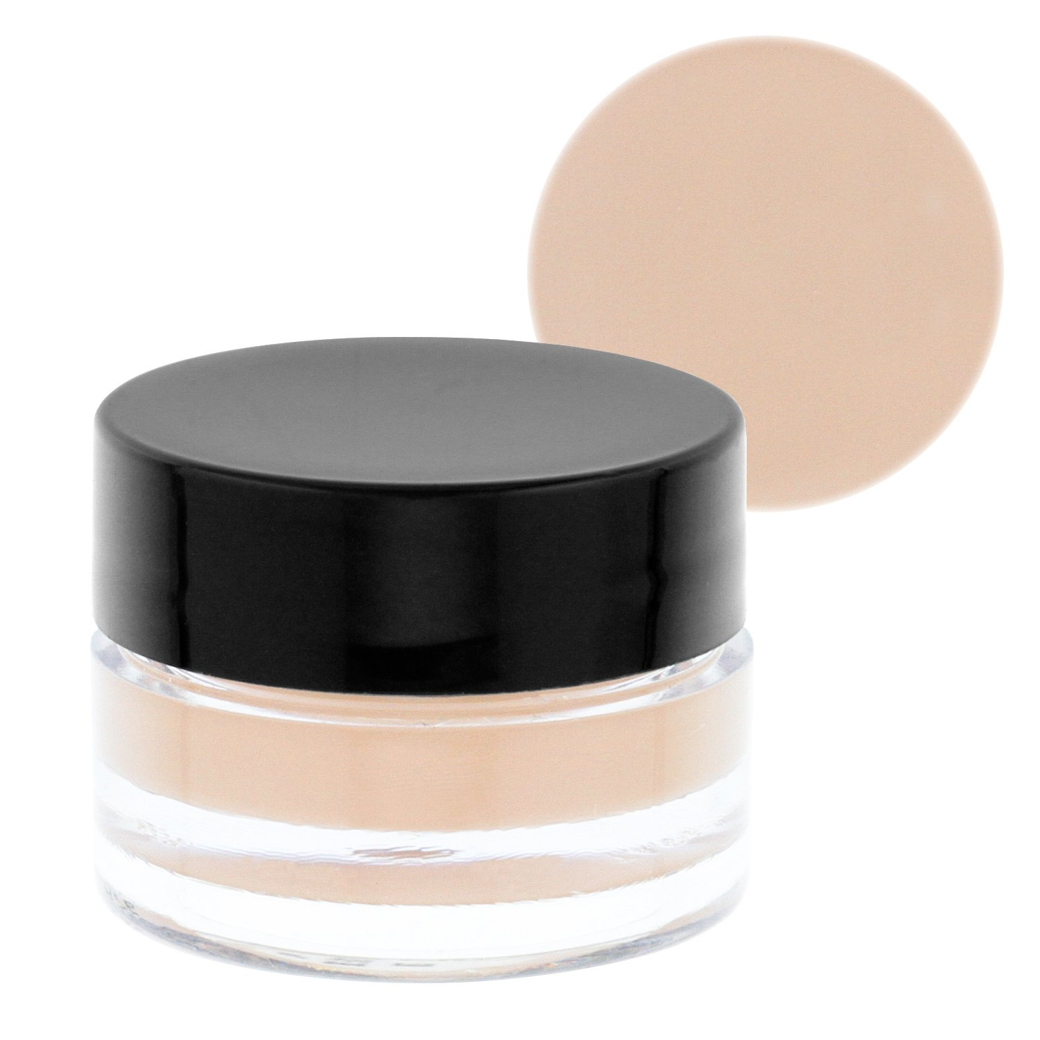 Belloccio High Definition Fair Shade Makeup Concealer 5 gram Jar - Conceal Imperfections, Hide Blemishes, Dark Under Eye Circles, Cosmetic Cream - Use Under Airbrush Foundation