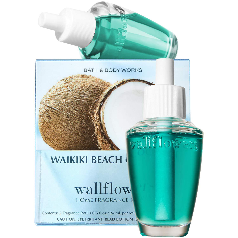 Bath and Body Works New Look! Waikiki Beach Coconut Wallflowers 2-Pack Refills by Bath & Body Works