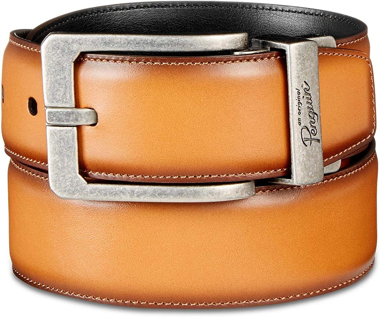 Original Penguin Mens 35mm Soft Touch Leather Belt