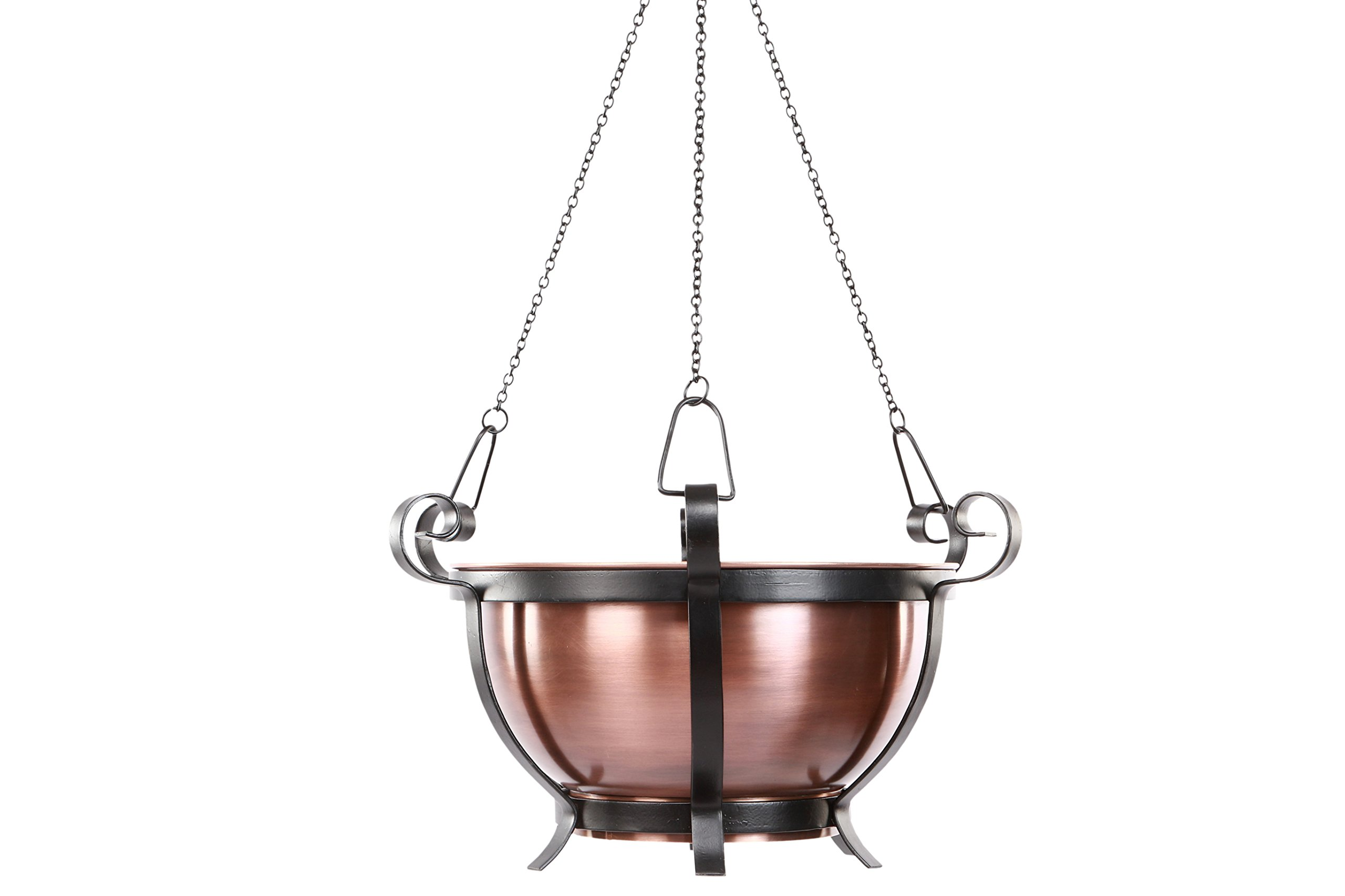 H Potter Patio Hanging Outdoor Copper Garden Planter