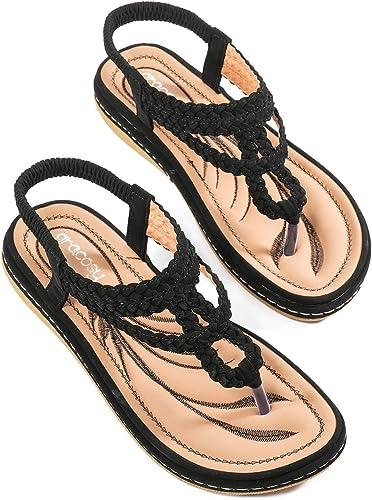 Ladies Womens Low Flat Heel Comfort Walking Slingback Summer Sandals Shoes Size
