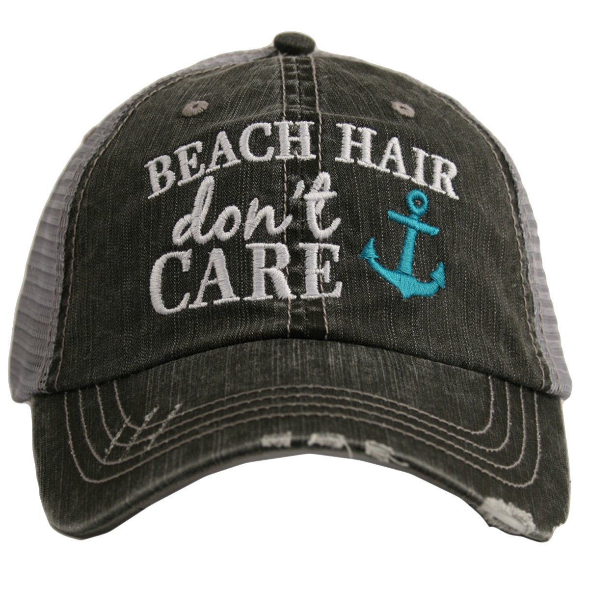 Beach Hair Don't Care ANCHOR Women's Trucker Hat Cap by Katydid