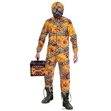 Amscan Disfraz de Zombie Quarantine Biohazard para Hombre de Halloween M/L (Chest 40-42