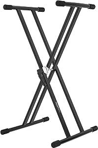 AmazonBasics Heavy-Duty Adjustable Keyboard and Piano Stand - Double-X