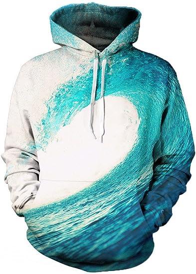 Beloved Shirts Wave Hoodie Premium All Over Print Graphic Hoodies