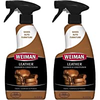 Weiman Leather Cleaner and Conditioner - 16 Ounce - 2 Pack - Use On Your Couch Chair Purse Wallet Shoes Boots Saddle Belt Jacket Car Seat and More