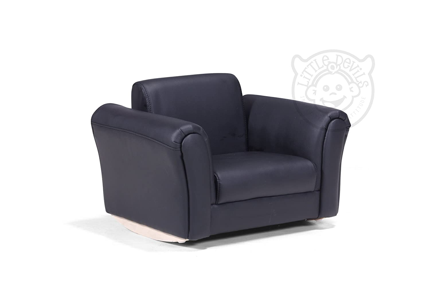 BLACK LAZYBONES LEATHER ROCKING Chair Armchair Kids Childrens with – Childs Leather Chair