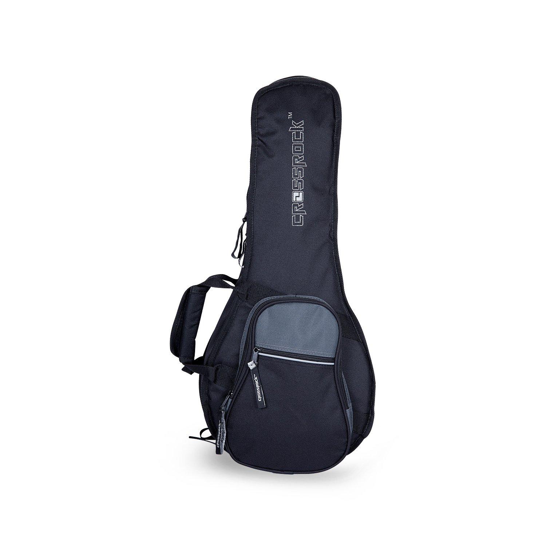 Crossrock, 5-String F-Style Mandolin Gig Bag with 10mm Padding, Backpack Straps in Black Grey, CRSG106MFBG)