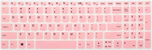 "Keyboard Cover for Lenovo Yoga C740 C940 15, ThinkBook 15, ideapad 320 330 15.6/17.3, ideapad 3 330s 15.6/17.3, ideapad 520/S145 S340 S540 S740 15.6"", ideapad L340 15.6/17.3"" Laptop - Pink"