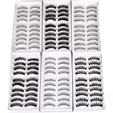 60 PAIA CIGLIA FINTE FALSE EYELASHES MAKEUP 6 VERSIONI