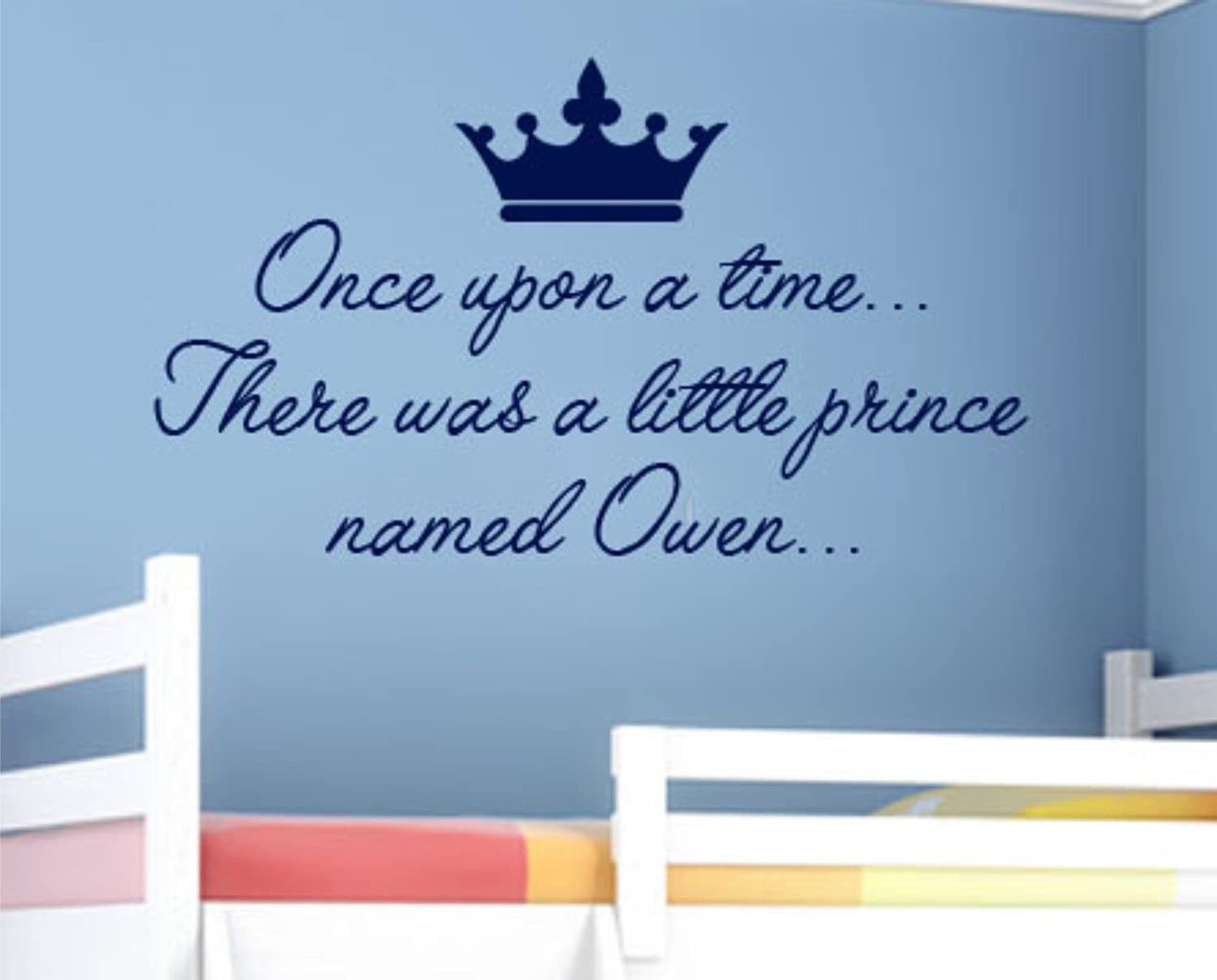 personalised once upon a time there was a little prince named personalised once upon a time there was a little prince named son quotevinyl wall art sticker decal mural any colour just message us 100cm x 50cm vinyl