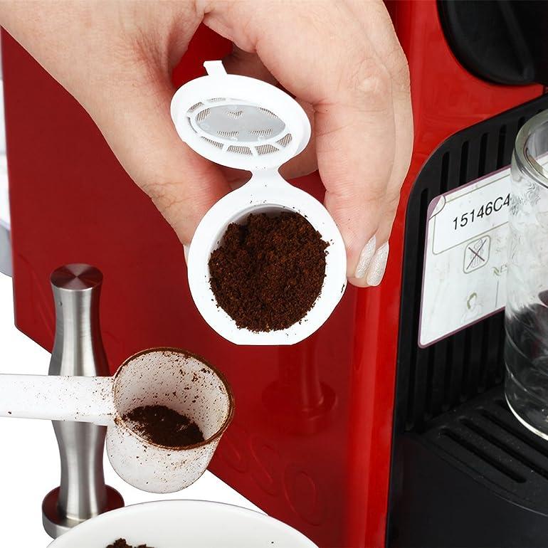 RECAPS Nespresso Refillable Capsule Compatible Filter Cups BPA ...